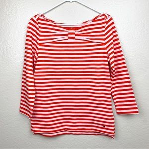 Kate Spade Striped Wheaton Top Sweater Red/White